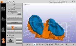 Widok z oprogramowania Leios do obróbki skanów 3D