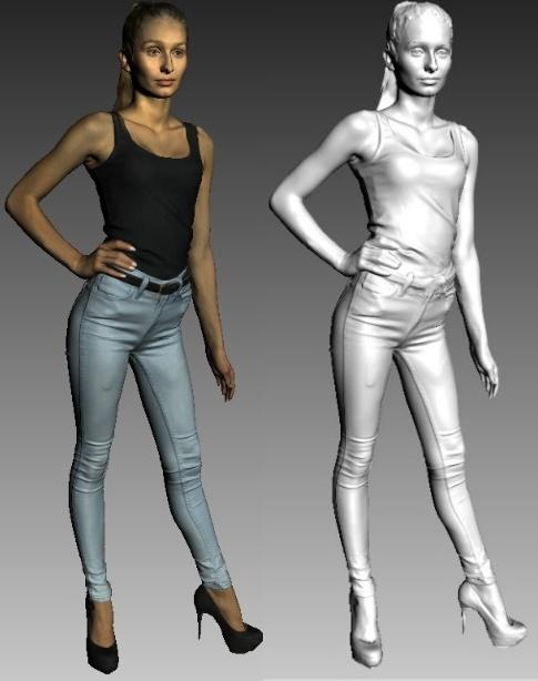 skanowanie 3D modelki skany 3d