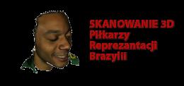 Skanowanie 3d piłkarza brazylia