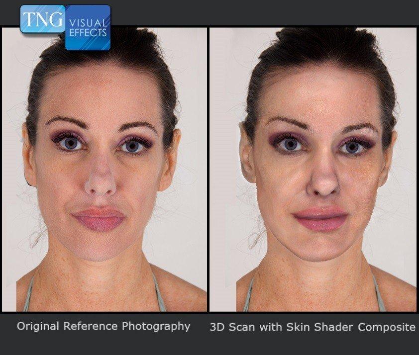 efekty specjalne 3D - skóra