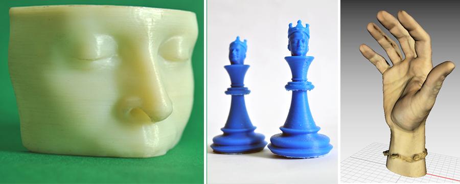 Twarz, szachy, ręka - wydruki i modele 3D