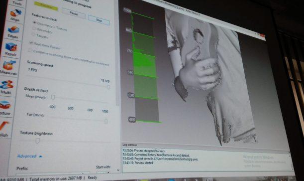 prezentacje 3D, Prezentacje 3D skanery