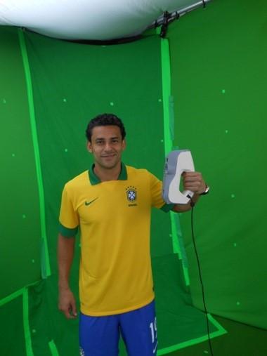 Skanowanie 3D, Skanowanie 3D piłkarzy reprezentacji Brazylii