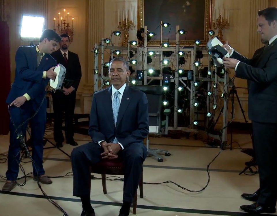 Barrack Obama skanowany Skanerem 3D EVA
