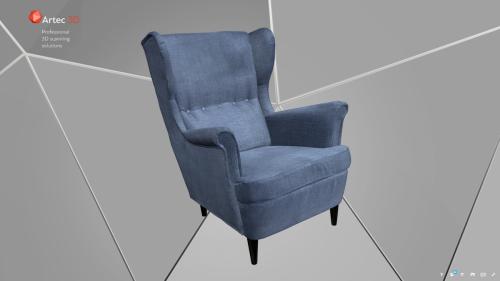 model 3d foteli