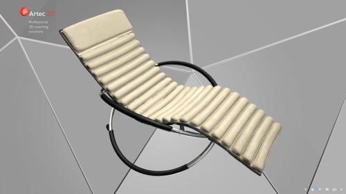 model 3d leżanki