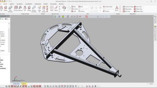 Model CAD dyszla Design X
