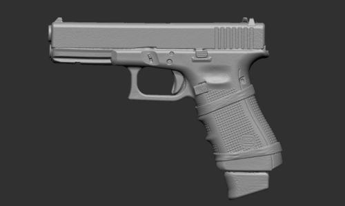 model 3D broni