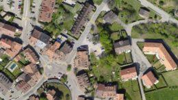 Widok na zagos[podarowanie przestrzenne - Ortofotoplany