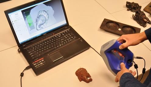 Skan ze skanera 3D w czasie rzeczywistym