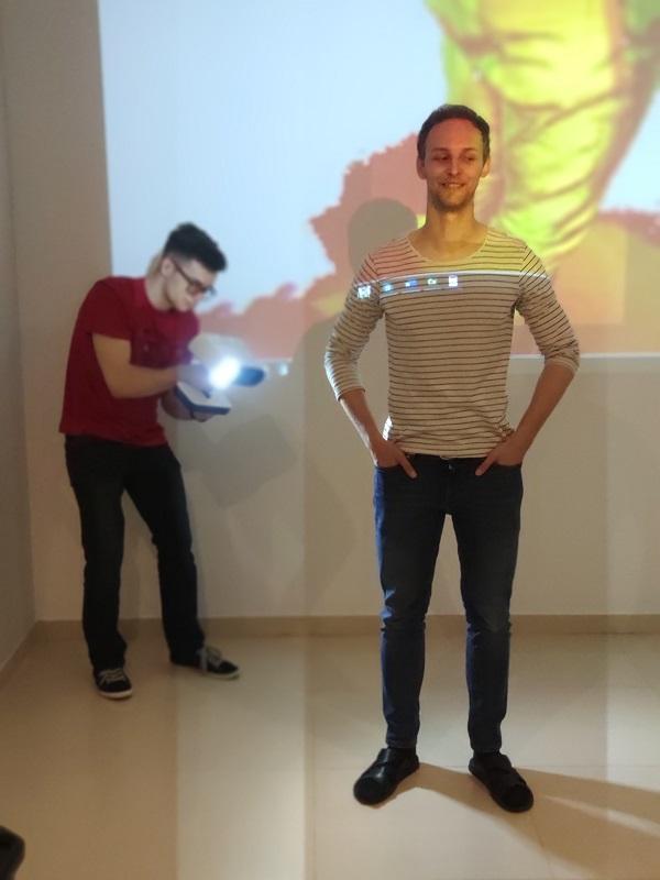 Skaner 3D podczas pracy