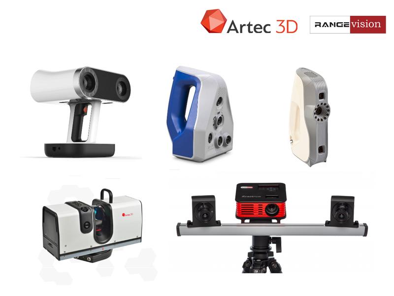 Skanery 3D firm Artec 3D i RangeVision