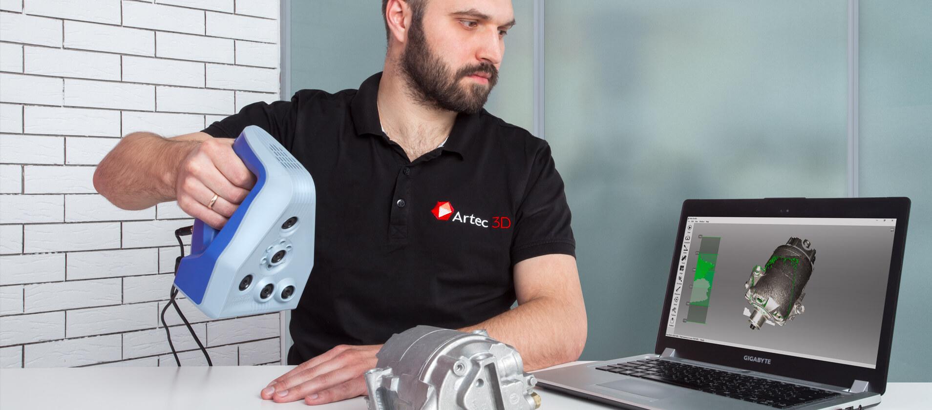 Skanowanie skanerem 3D Leo - Artec 3D