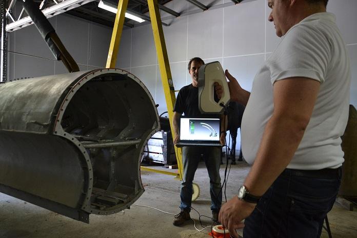 Łódź podwodna - skan wykonany przy pomocy skanera 3D Eva