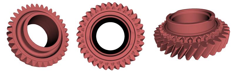 Turbina - Skan 3D