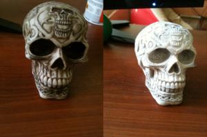, Skanowanie 3D obiektów cienkich, ciemnych, błyszczących oraz o nieregularnym kształcie